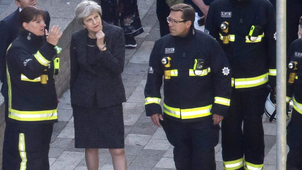 Dany Cotton with Theresa May