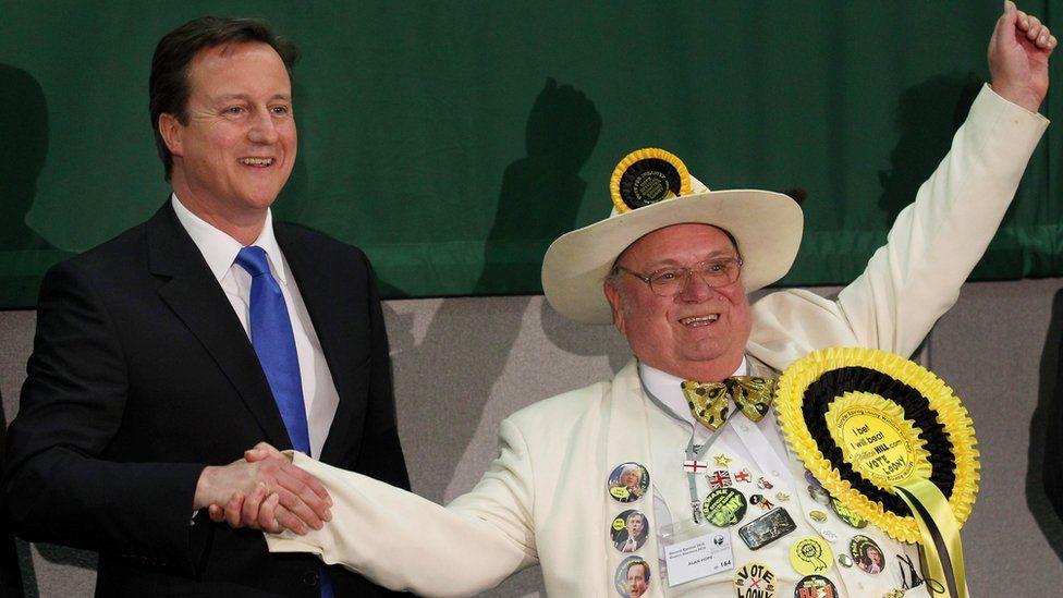 David Cameron and Alan 'Howling Laud' Hope