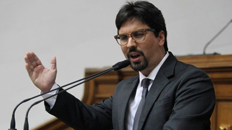 Freddy Guevara speaking in the National Assembly