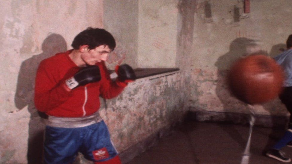 Photo of Johnny Owen traning in 1979