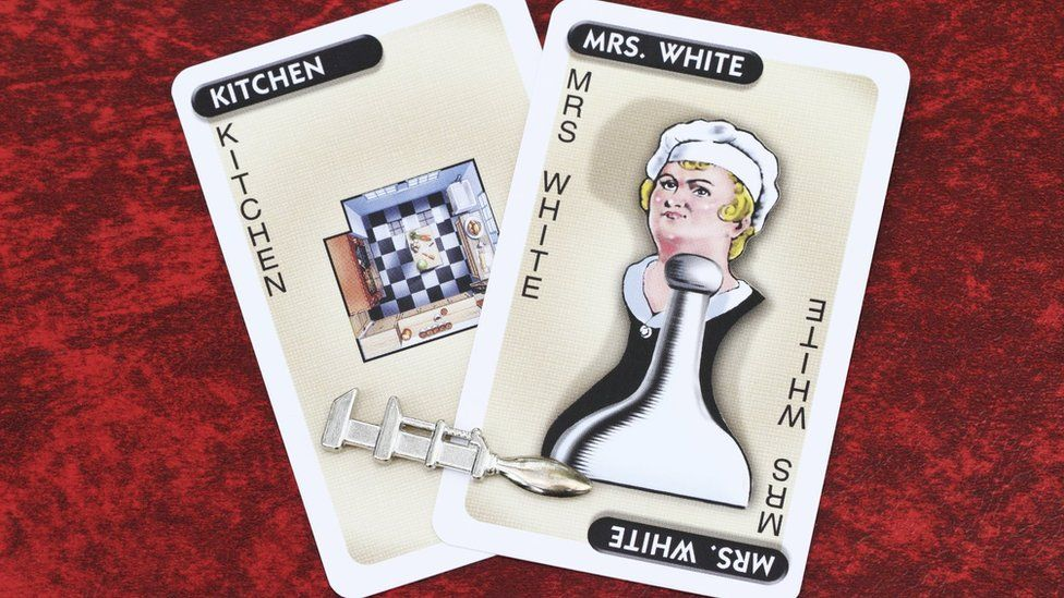 Mrs White Cluedo card