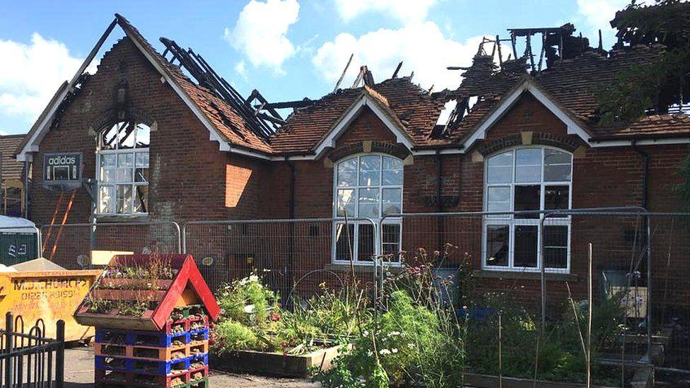 Woodborough Primary School fire damage