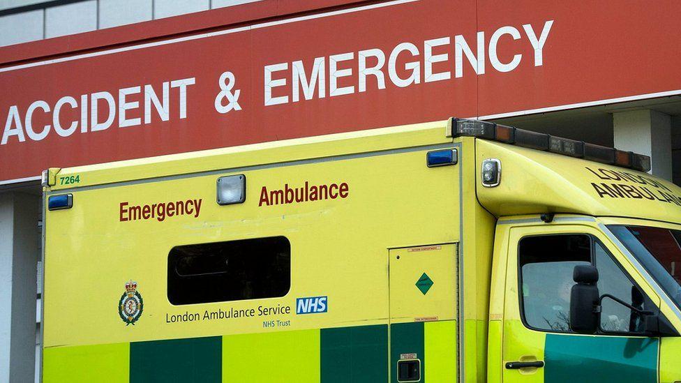 Ambulance outside A&E