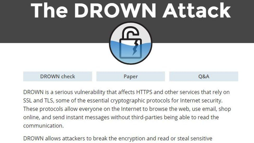Drown Attack website