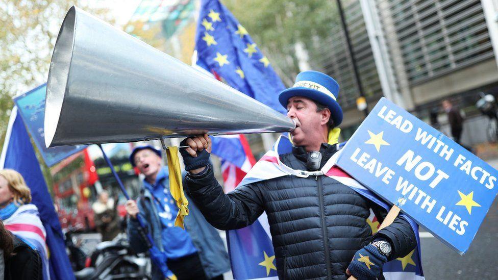 Anti-Brexit protester Steve Bray