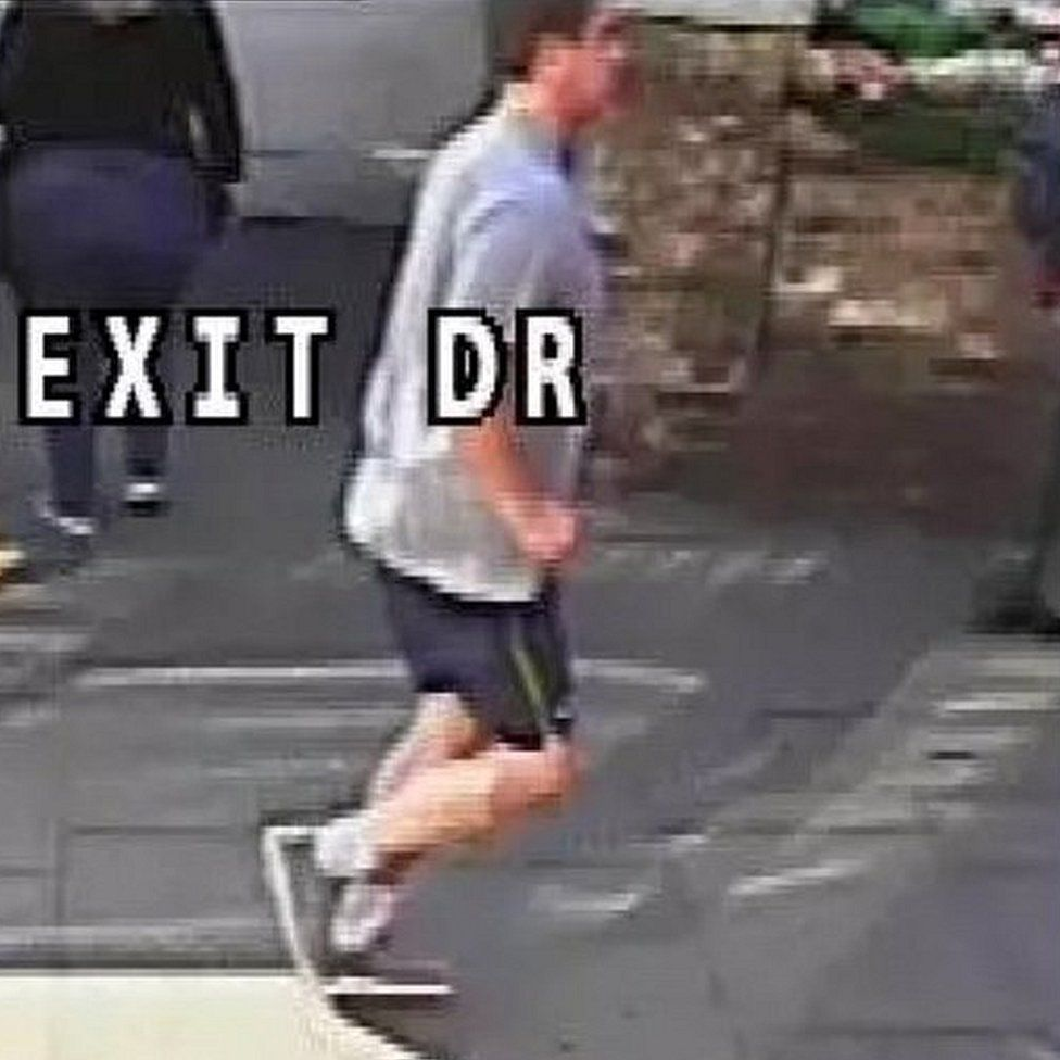 CCTV of jogger