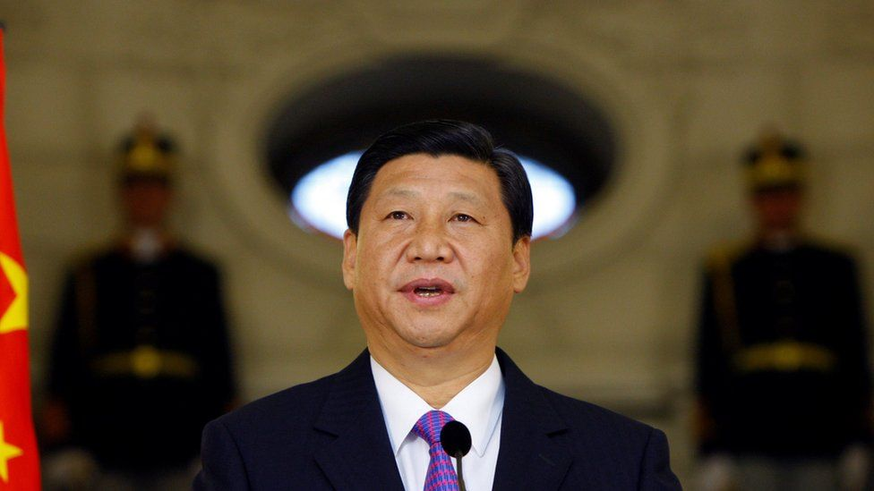 Chinese President Xi Jinping delivers a speech as vice president in 2009.