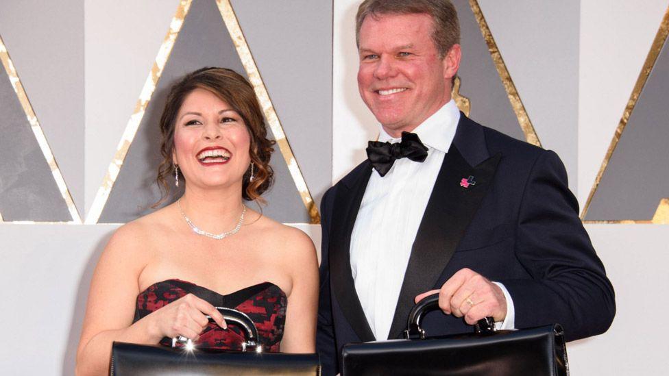 Martha Ruiz and Brian Cullinan on the red carpet