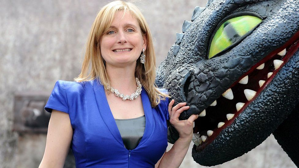 Cressida Cowell at How To Train Your Dragon premiere