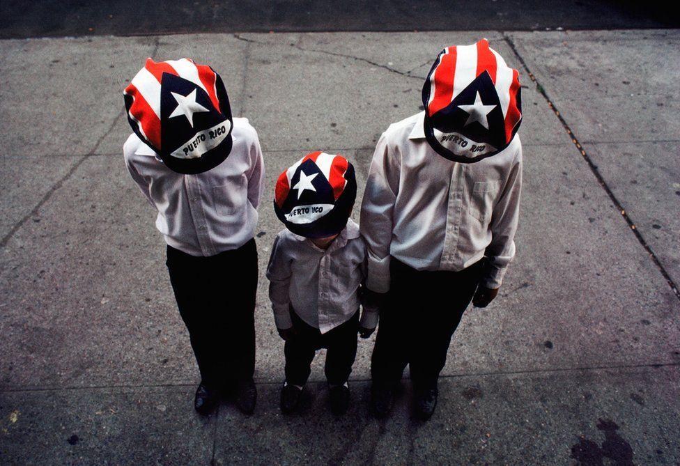 Boys in Puerto Rico hats