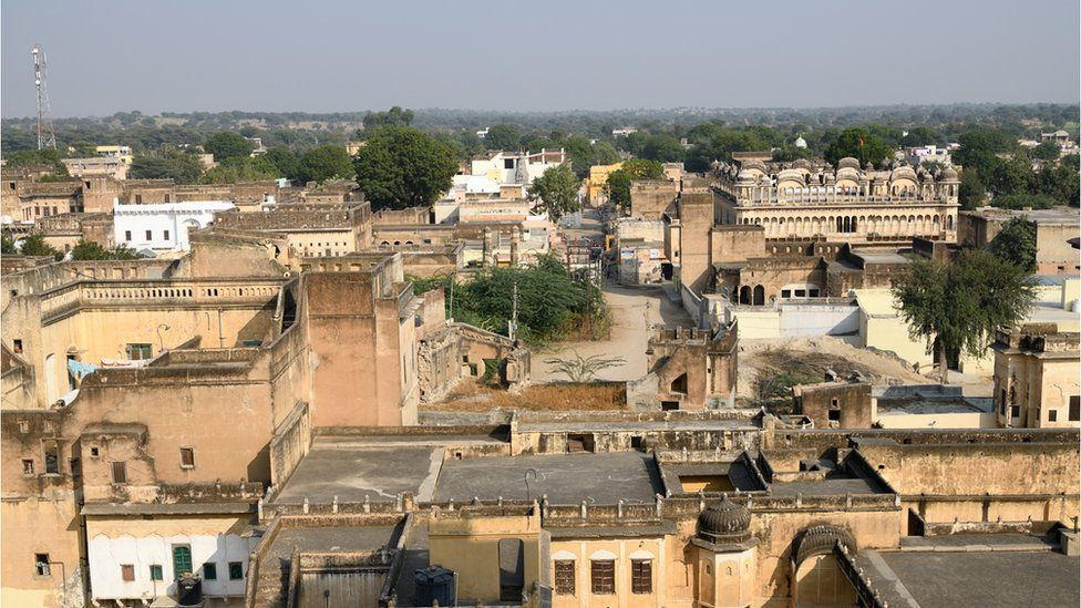 The fortress of the city of Mahansar in Shekhawati area, located in North Rajasthan