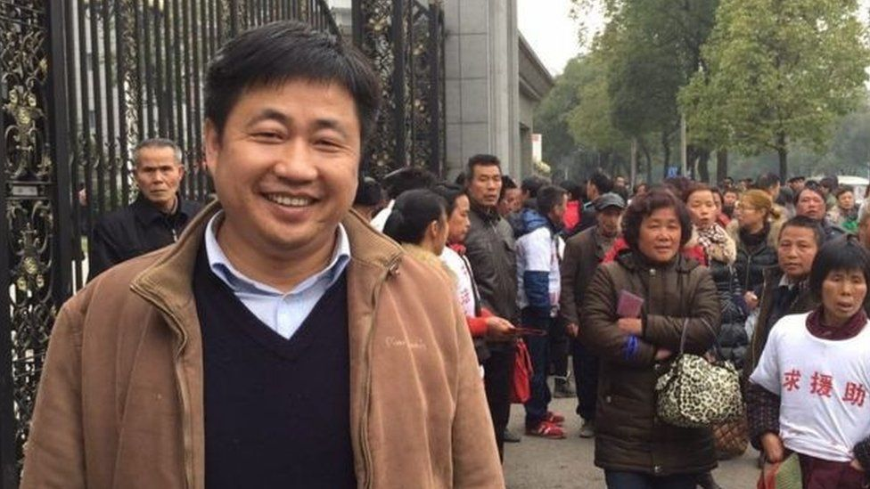 Picture of detained lawyer Xie Yang