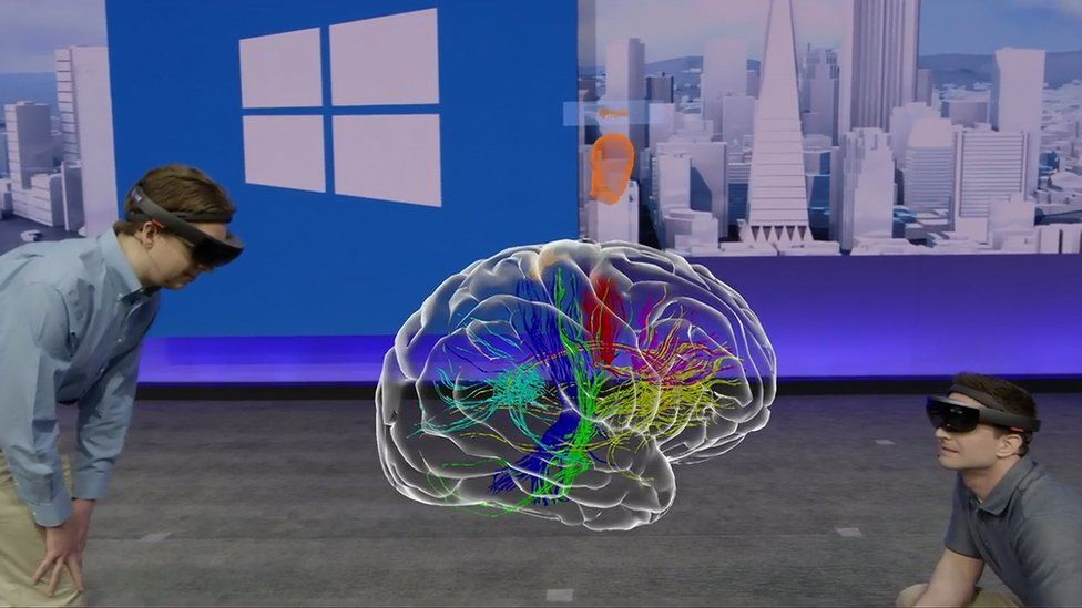 An application to teach medical students human anatomy via HoloLens was shown off