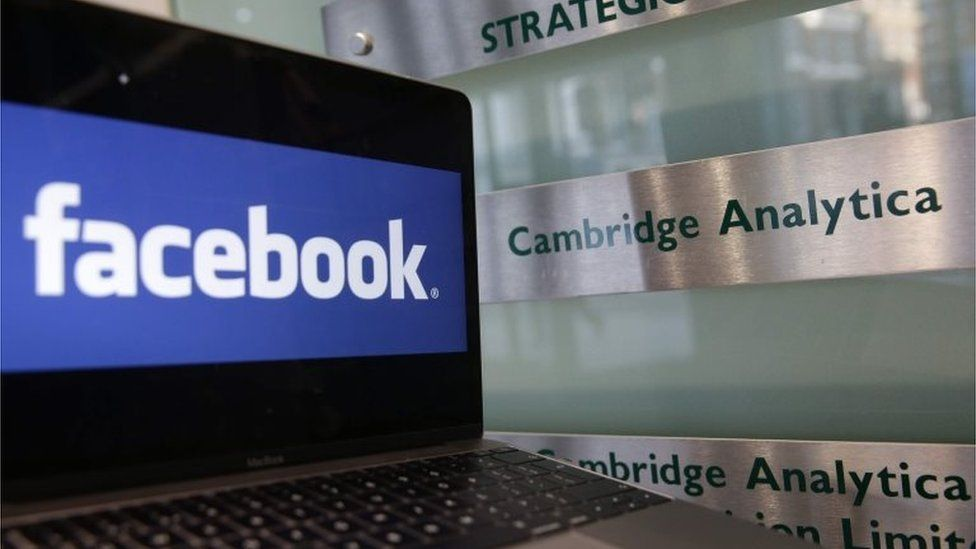 Facebook and Cambridge Analytica signs