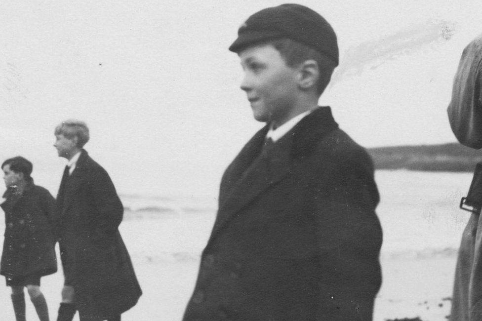 Roald Dahl as a schoolboy