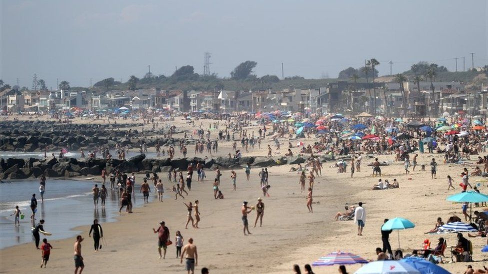 people at newport beach, orange county 25 april