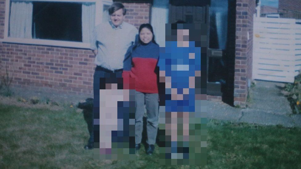 Lamduan Armitage, nee Seekanya, and family - pixelated