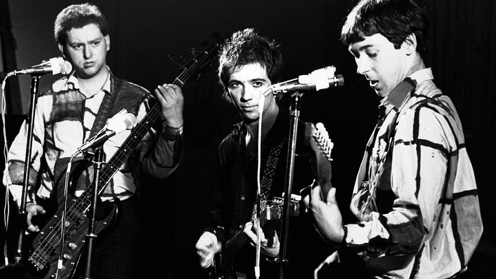 Buzzcocks, with Shelley centre, in 1977