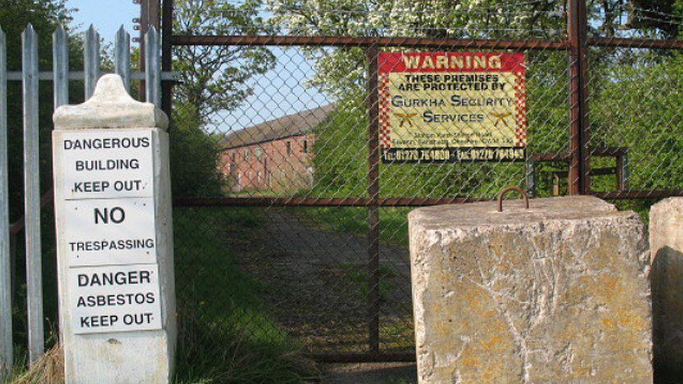 Gate outside Cledford Hall