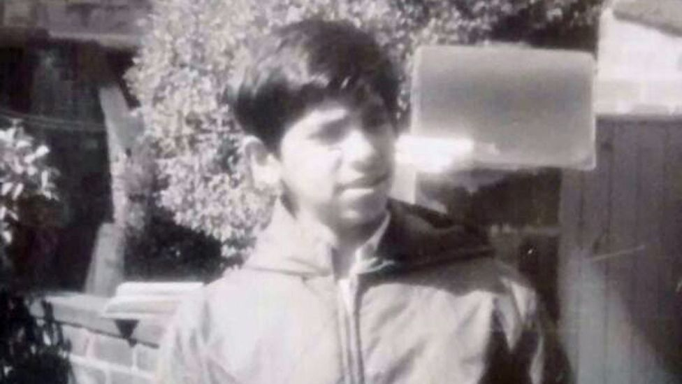 Suresh Grover in his early teens, growing up in Lancashire