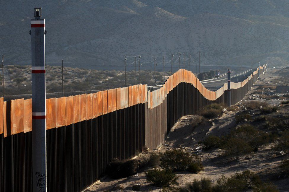 The US-Mexican border, in Ciudad Juarez, Chihuahua state, Mexico