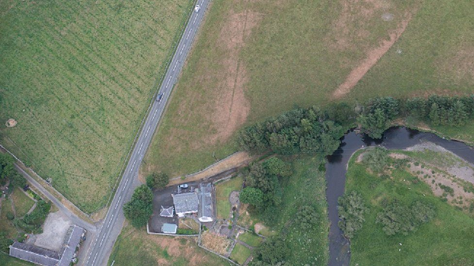 Roman camp from the air