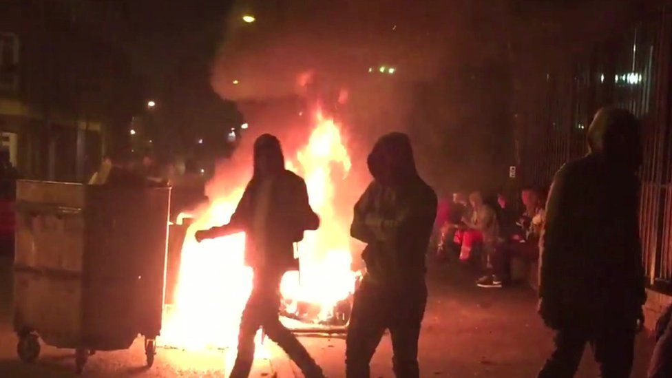 Rioters in Lambeth