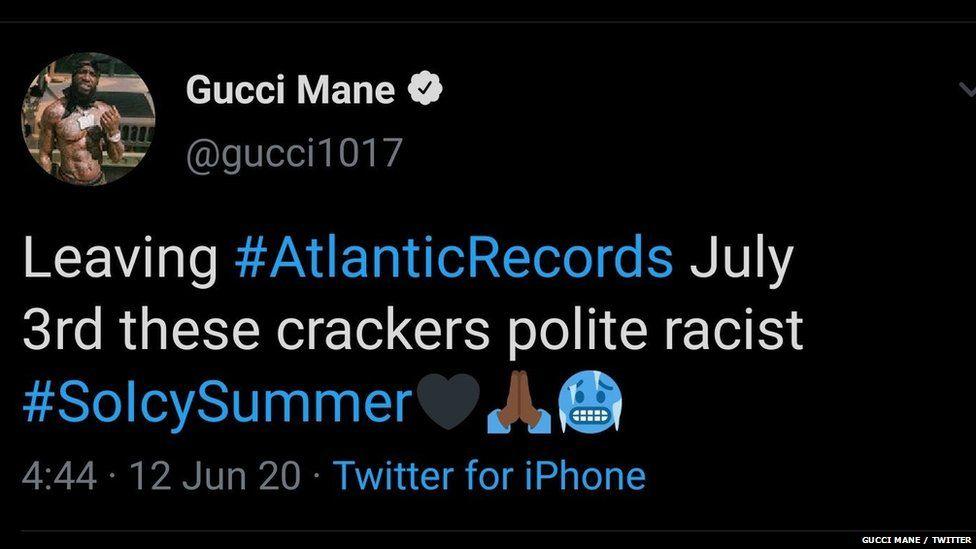 Gucci Mane's tweet