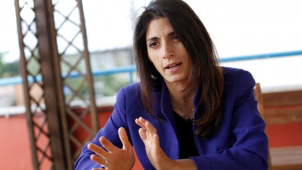 Virginia Raggi, the anti-establishment 5-Star Movement's candidate for Rome mayor