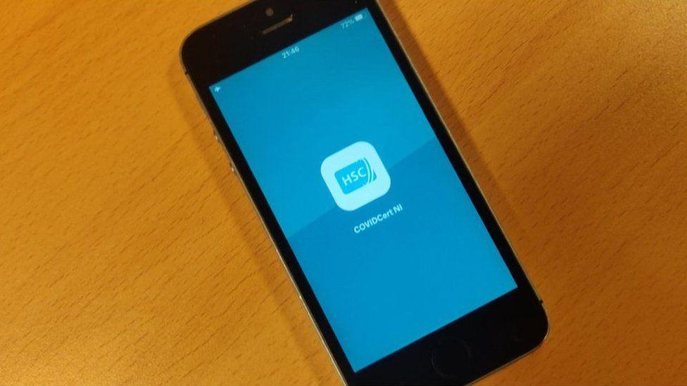 CovidCertNI app