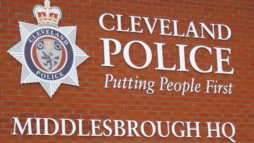 Middlesbrough police station sign