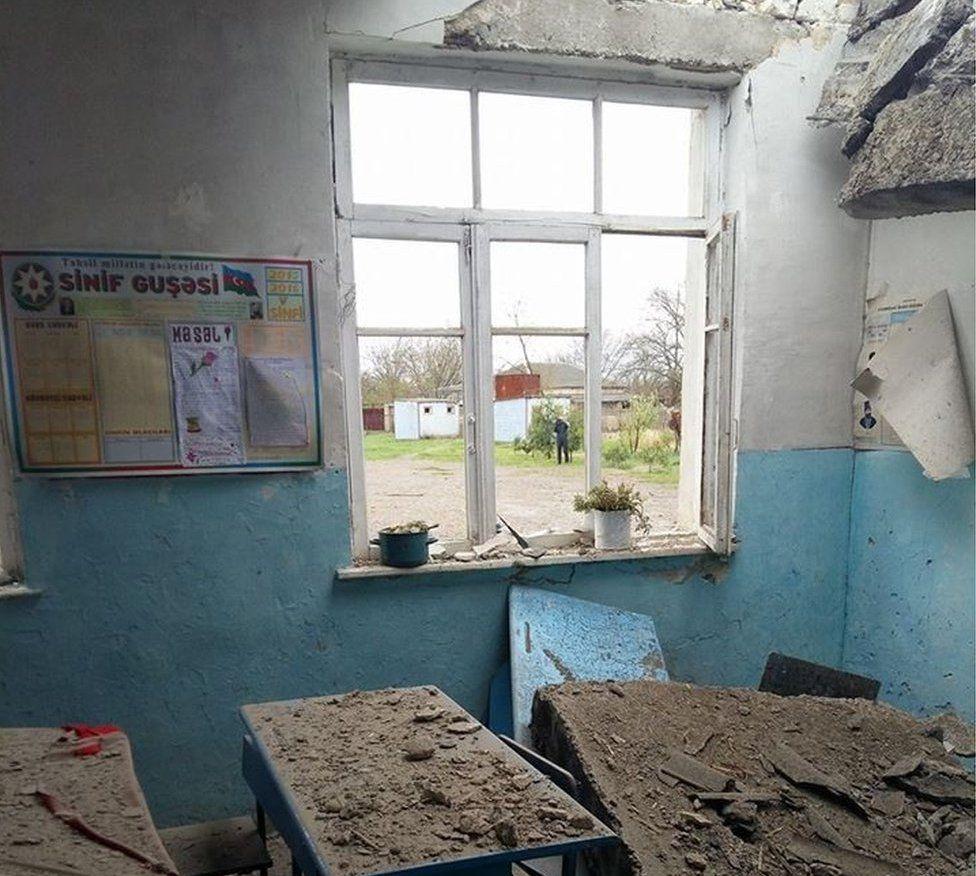 Damaged Azeri school