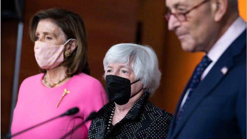 Pelosi, Yellen and Schumer