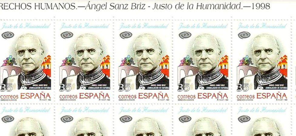 Sanz Briz stamps