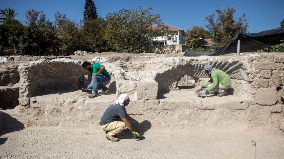 Excavations site at Yavne