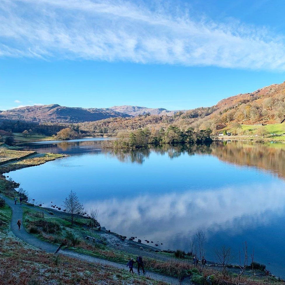 Rydal Water in the Lake District in Cumbria