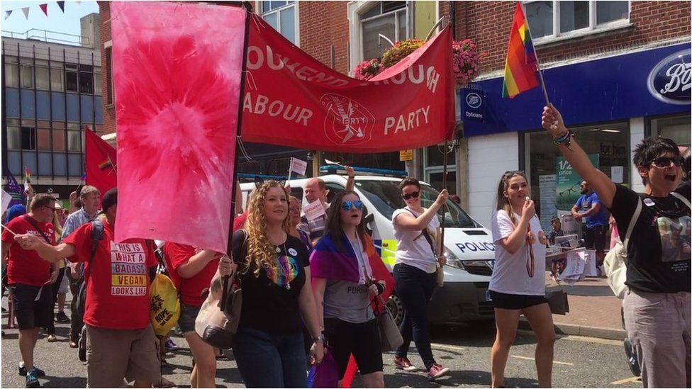 Southend pride march