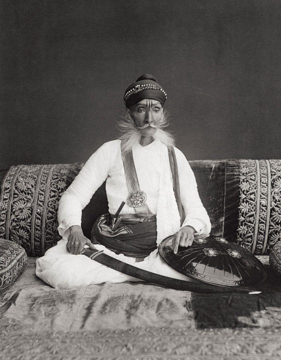 A portrait of H.H The Maharajah Sahib of Bundi