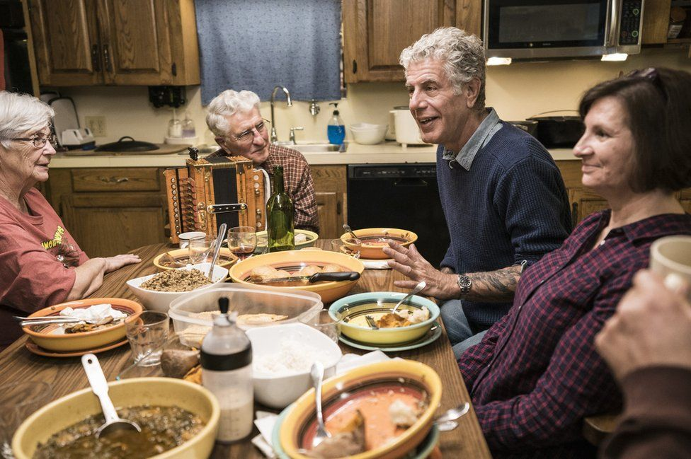 Bourdain eating