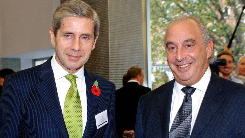Sir Stuart Rose (L) and Sir Philip Green (R)