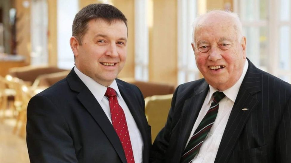 Robin Swann and Reverend Dr Robert Coulter