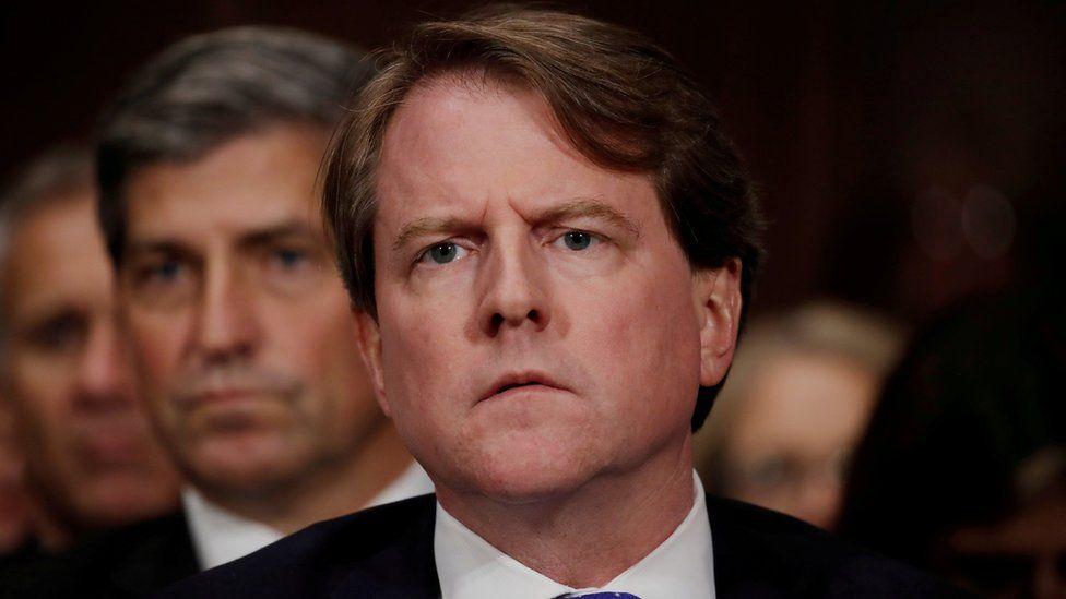 Don McGahn, pictured in September 2018