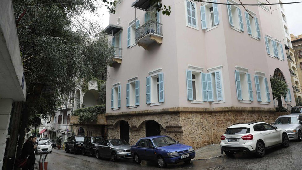 Image shows a house in Beirut that belongs to Mr Ghosn