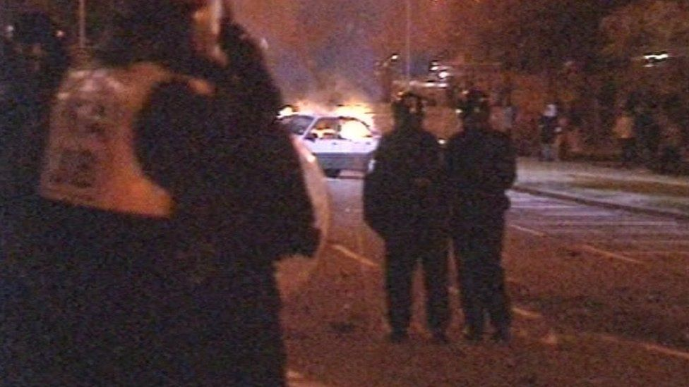 Riots in Marsh Farm, Luton