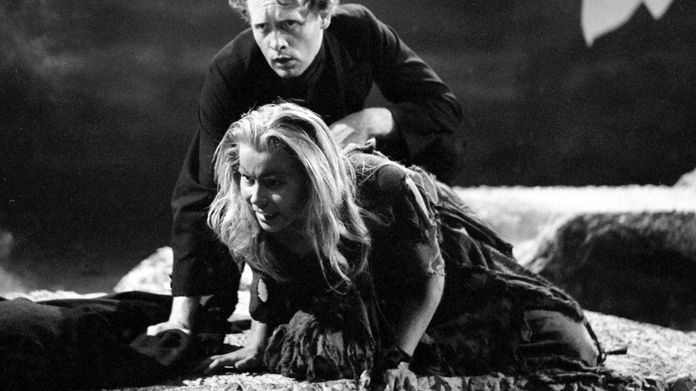Olive McFarland in a production shot of Ibsen's Brand