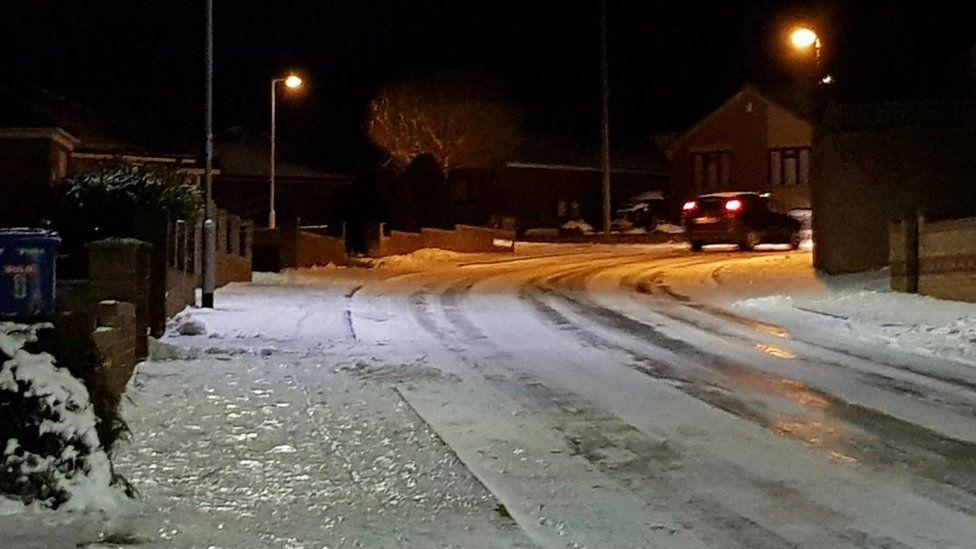 Snow in Lowestoft