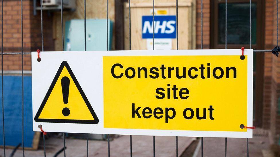 NHS construction site