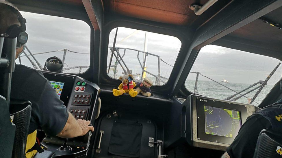 inside an RNLI lifeboat