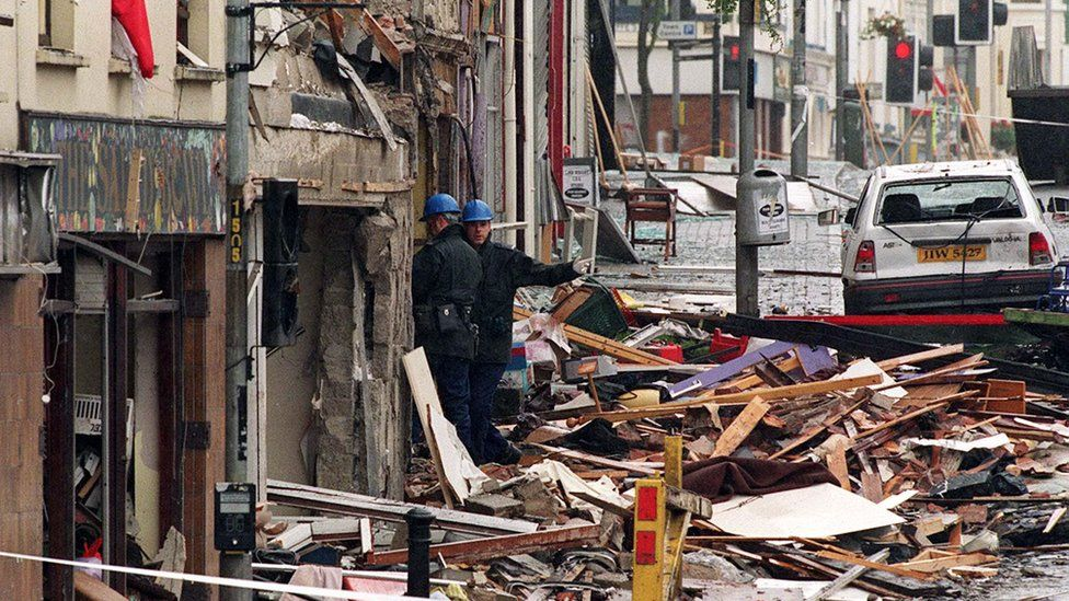 Structural engineers begin to examine the scene in and around the Explosion