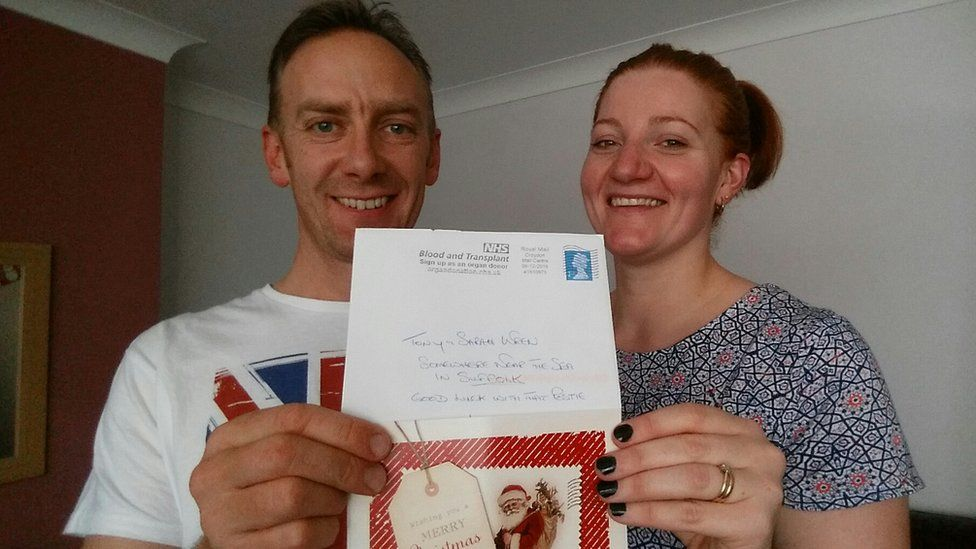 Antony and Sarah Wren and their Christmas card